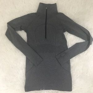 Lululemon Run Swiftly Tech 1/2 Zip Gray Long Sleev